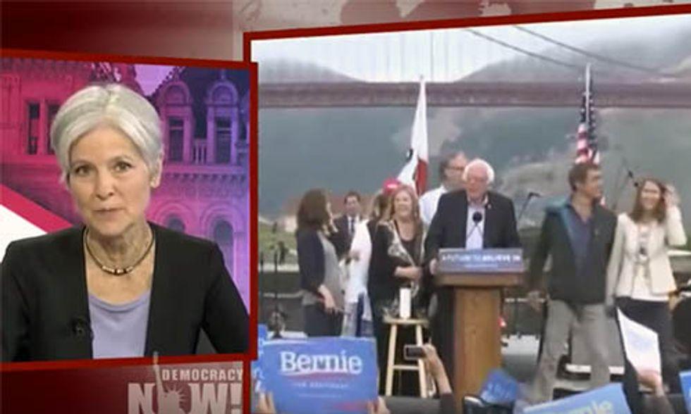 Jill Stein to Bernie Sanders: Run on the Green Party Ticket