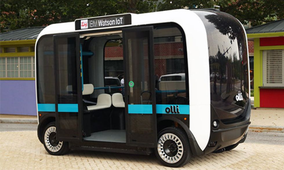 First Self-Driving, 3D-Printed Smart Bus Hits the Streets of Washington, DC