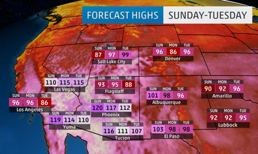 Record-Breaking Heat Wave Scorches Southwest