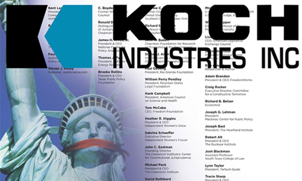 Koch Brothers Continue to Fund Climate Change Denial Machine, Spend $21M to Defend Exxon
