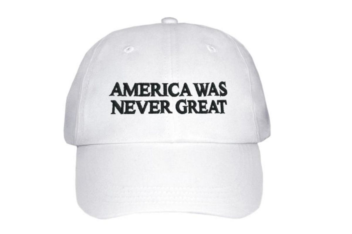 """Talking to the Creator of the """"America Was Never Great"""" Hat About Activism, Xenophobia and Patriotism"""