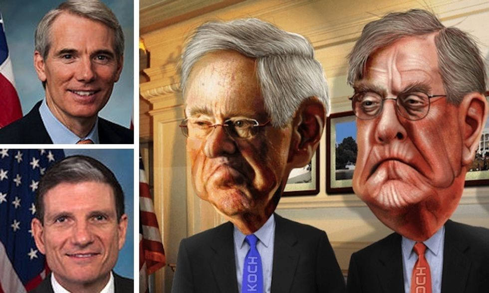 Kochs Dump Trump to Fund Climate-Denying Senators in Ohio and Nevada
