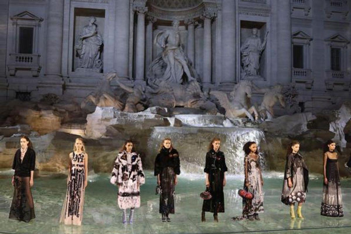 Fendi Turns 90 at the Trevi Fountain