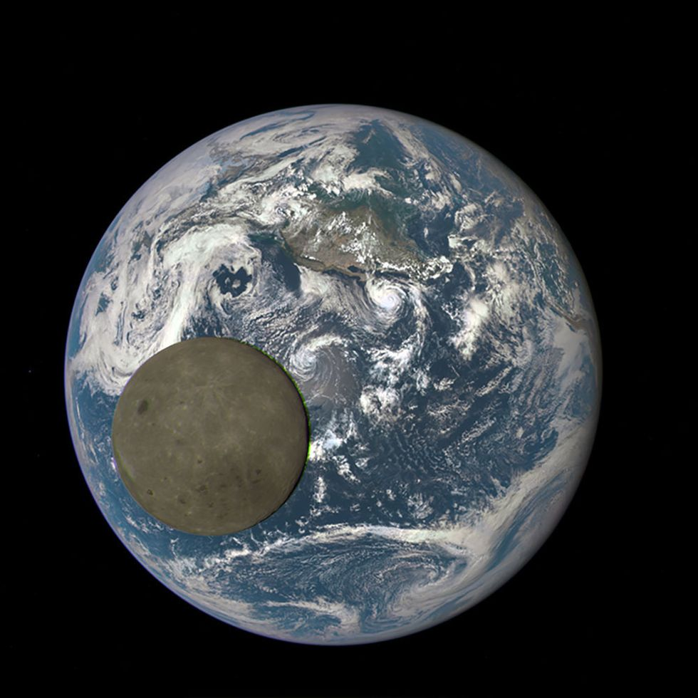NASA Catches Moon 'Photobombing' Earth for Second Time in One Year