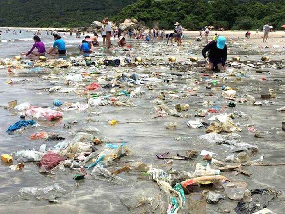 Hong Kong's Beaches Teeming With Plastic Trash, Can Even Be Seen From Space