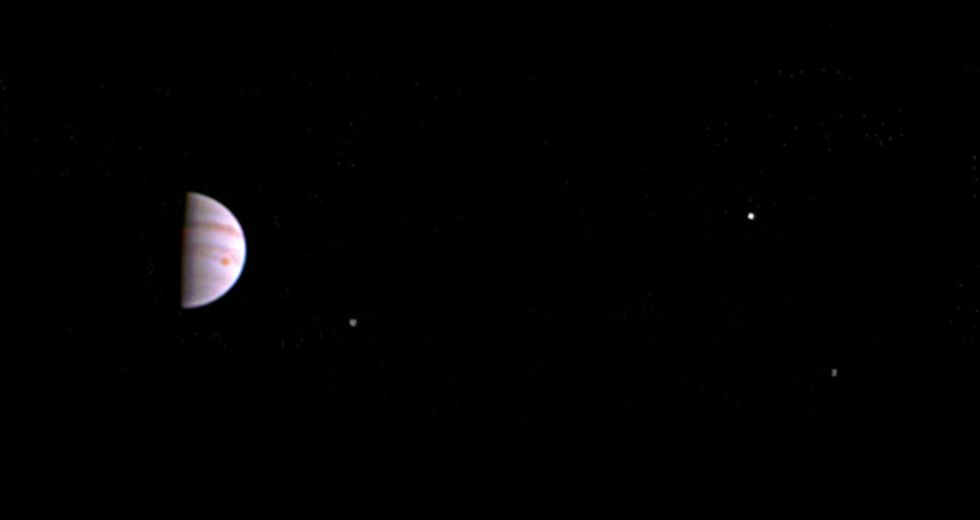 NASA's Juno Snaps First Picture of Jupiter