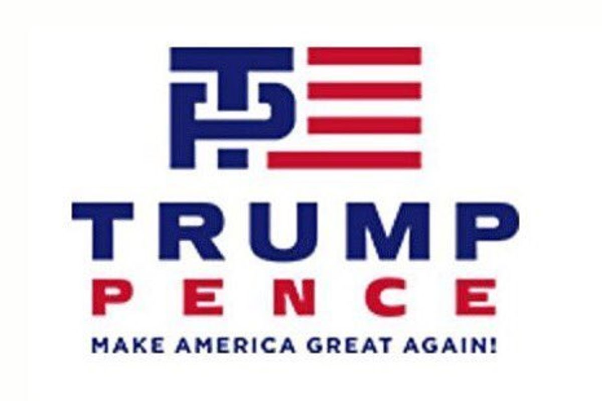Trump/Pence's New Campaign Logo Is a Handjob from Hell
