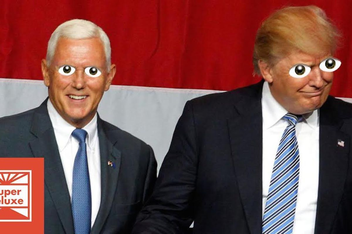 Watch This Hilarious (And Hellish) Edit of Trump Announcing Pence As His VP