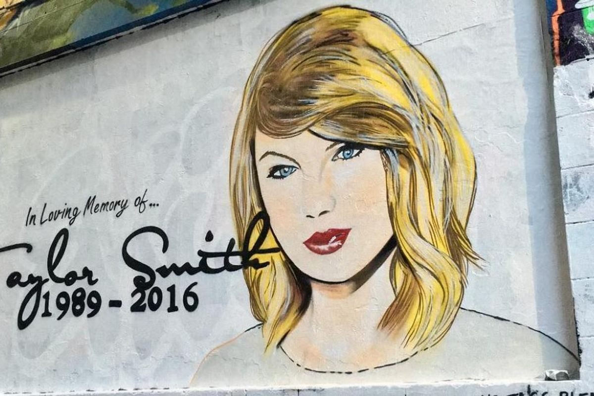 An Australian Artist Has Painted A Mural In Memoriam of Taylor Swift's Career