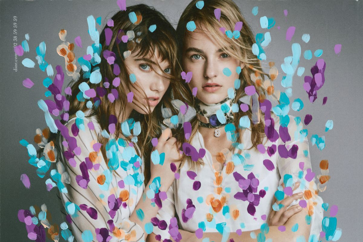 Artist Michael De Feo Transforms Fashion Ads with Flowers