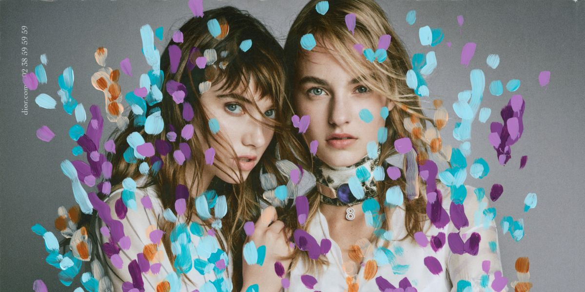 Artist Michael De Feo Transforms Fashion Ads with Flowers