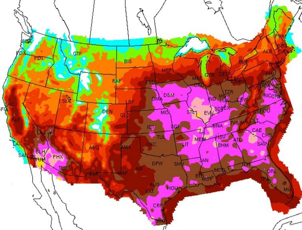 Major Heat Wave to Scorch U.S.