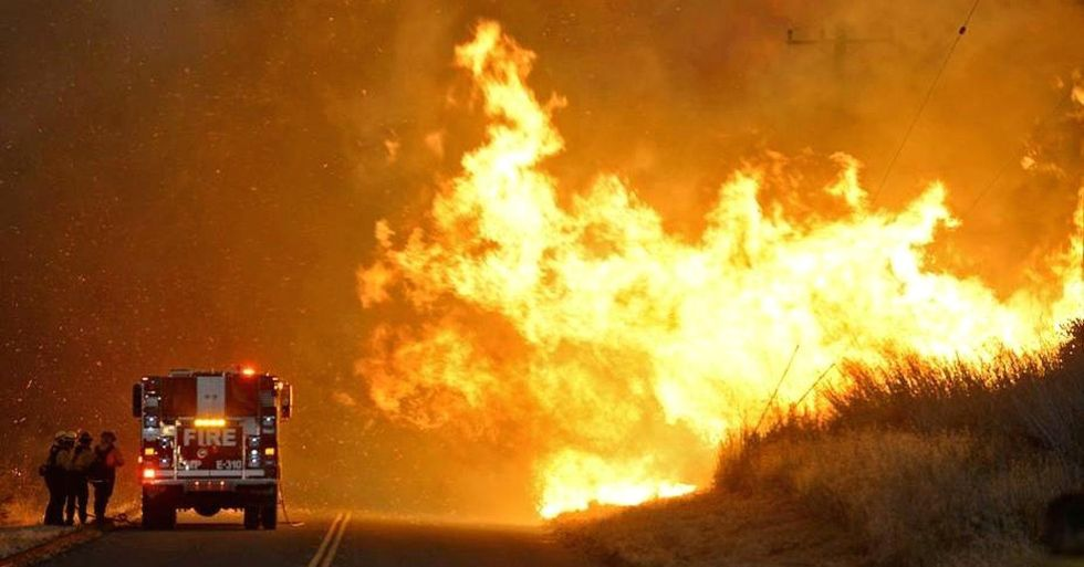 California Wildfire Triples in Size