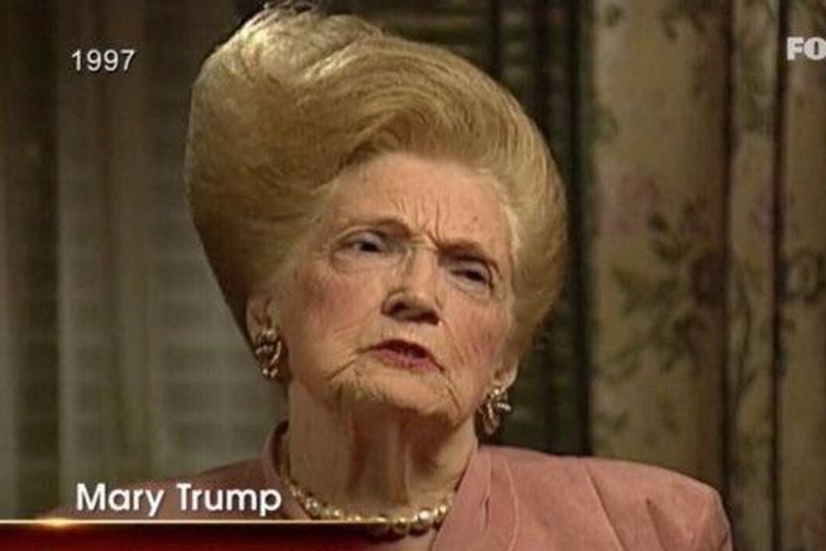 A Salute to Donald Trump's Late Mother (Well, Mostly Her Hair)