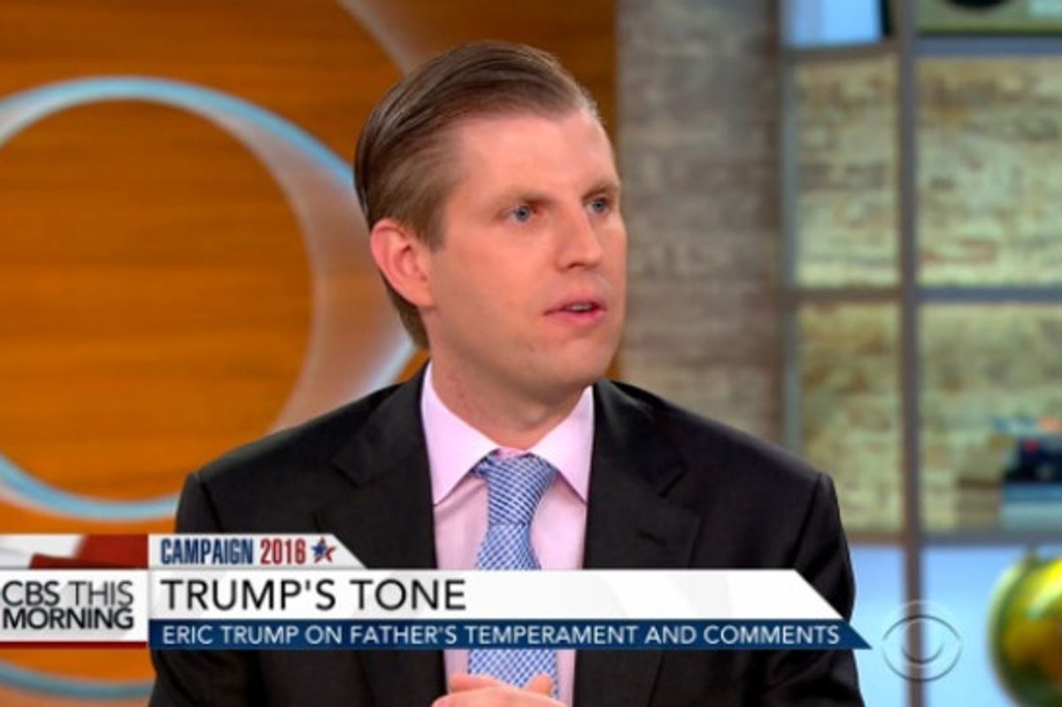 Eric Trump Says Ivanka Wouldn't Allow Herself To Be Sexually Harassed