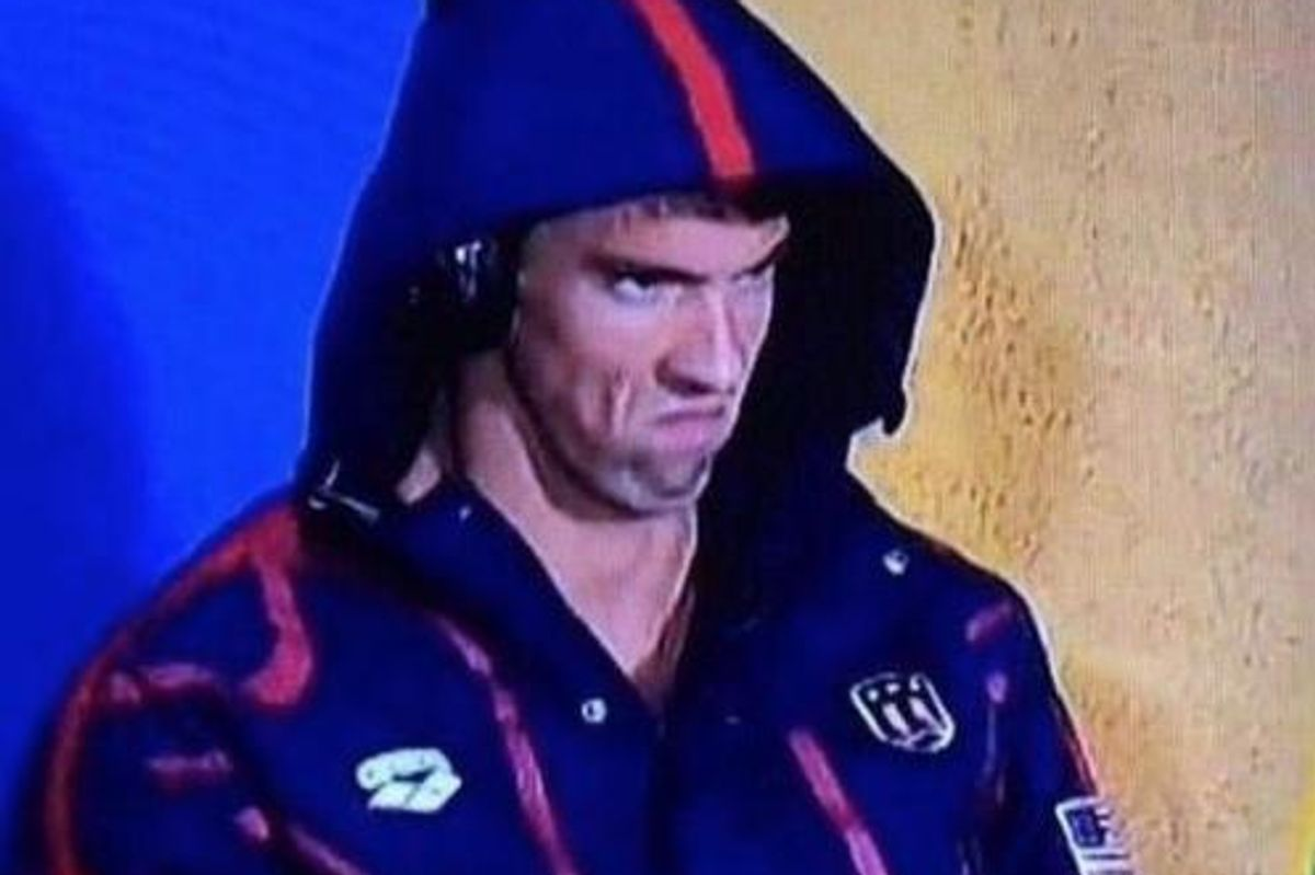 Michael Phelps' Game Face Is The Meme Of Your Life