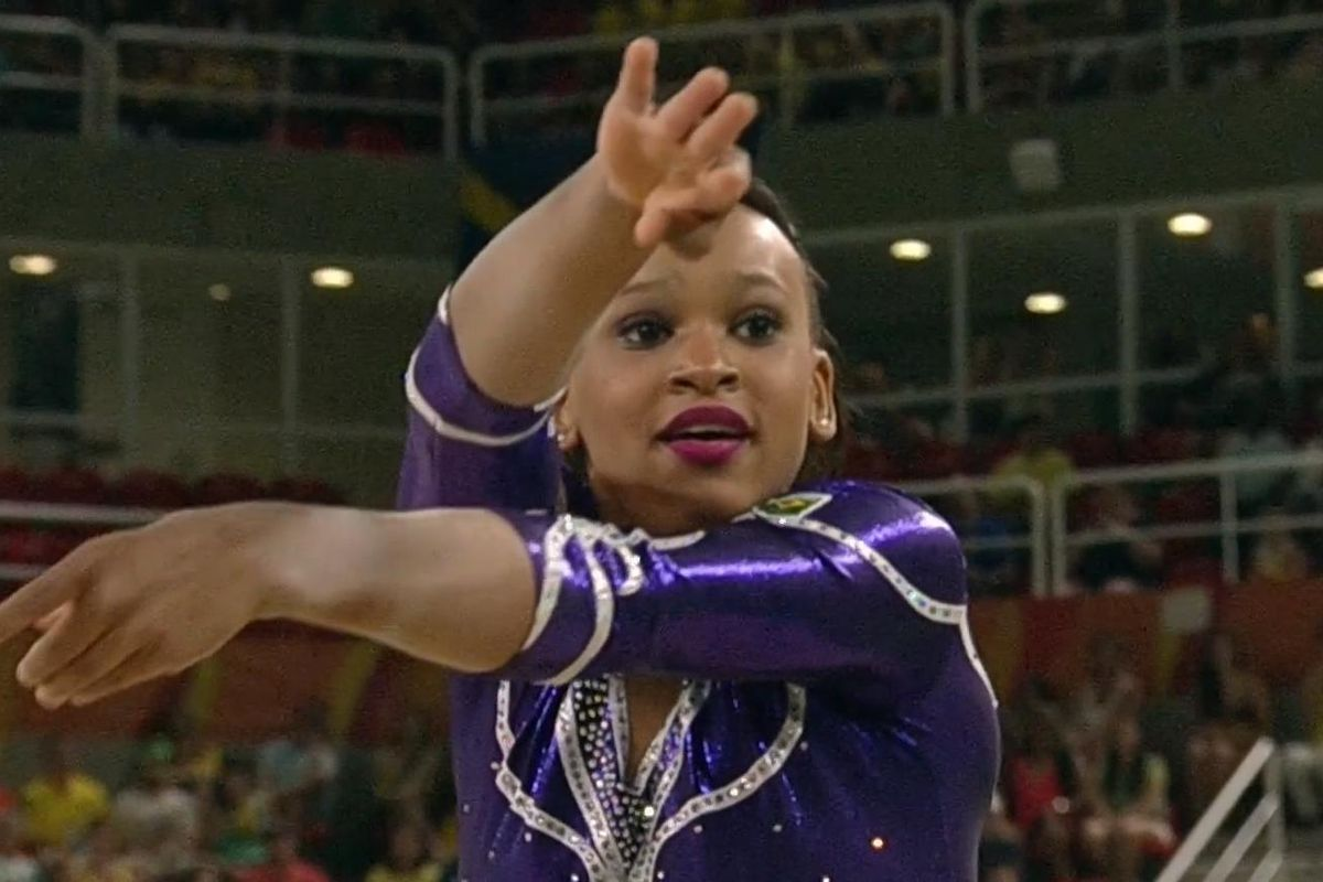 Watch This Brazilian Gymnast Slay Her Beyoncé-Themed Floor Routine