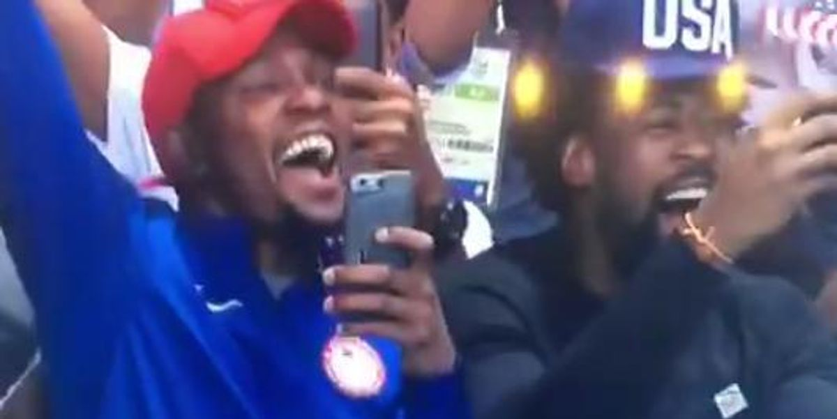 These NBA Players Cheering On Michael Phelps At The Olympics Will Make Your Week