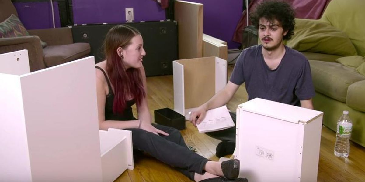 This Riveting New Webseries Features People Who Are High Assembling IKEA Furniture
