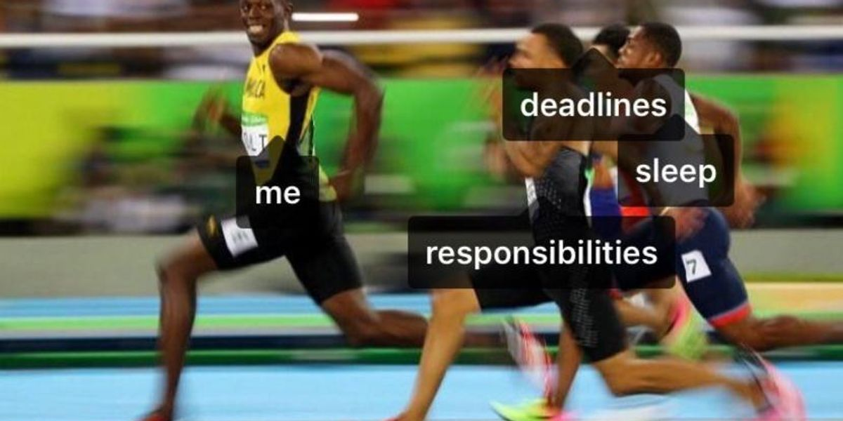 Usain Bolt's Mid-Race Photo Opp Is Now A Meme