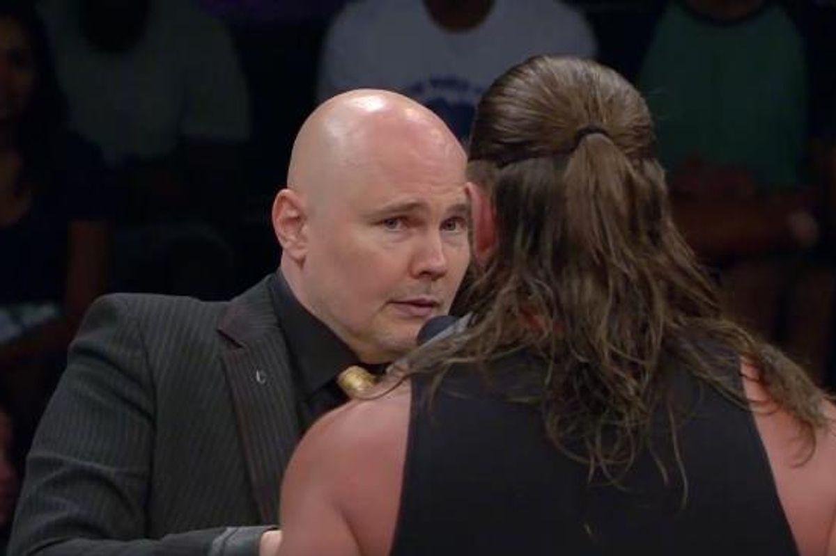 Watch Billy Corgan's Truly Mesmerizing Debut As A Pro-Wrestler Ref