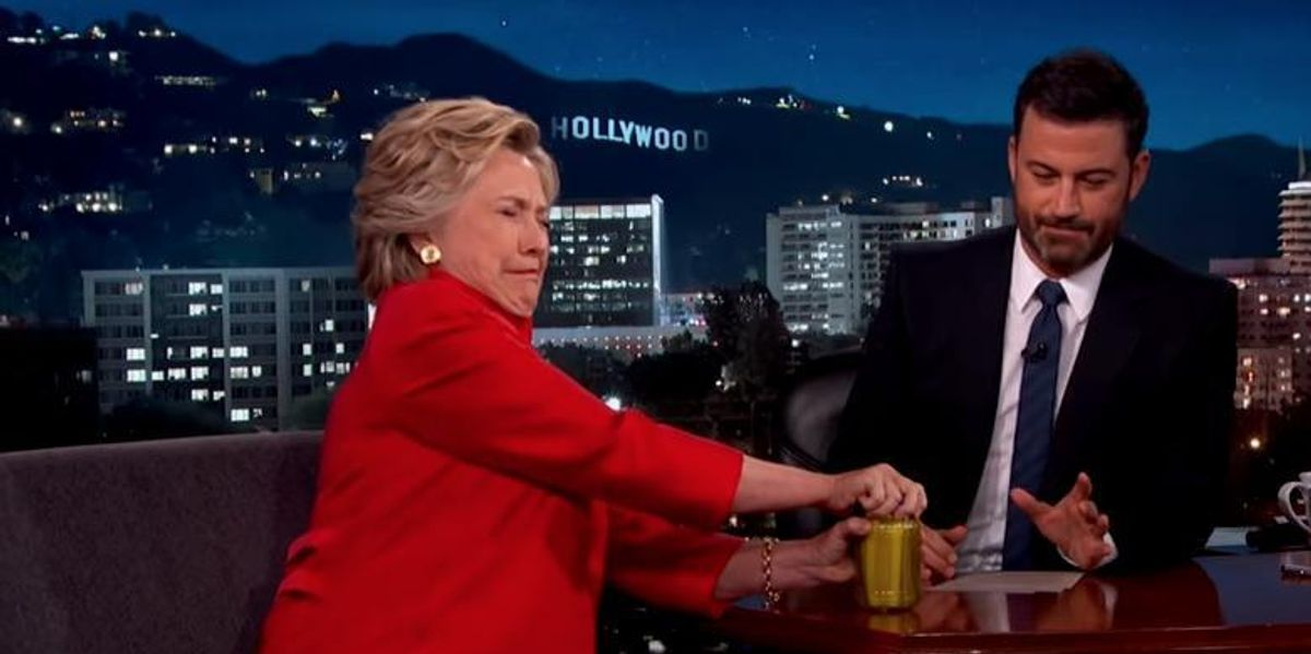 Hillary Clinton Reveals She Is Dead On Jimmy Kimmel