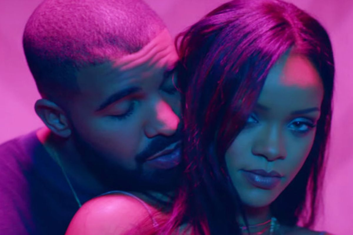 Drake Bought A Los Angeles Billboard To Congratulate Rihanna On Her VMA Vanguard Award