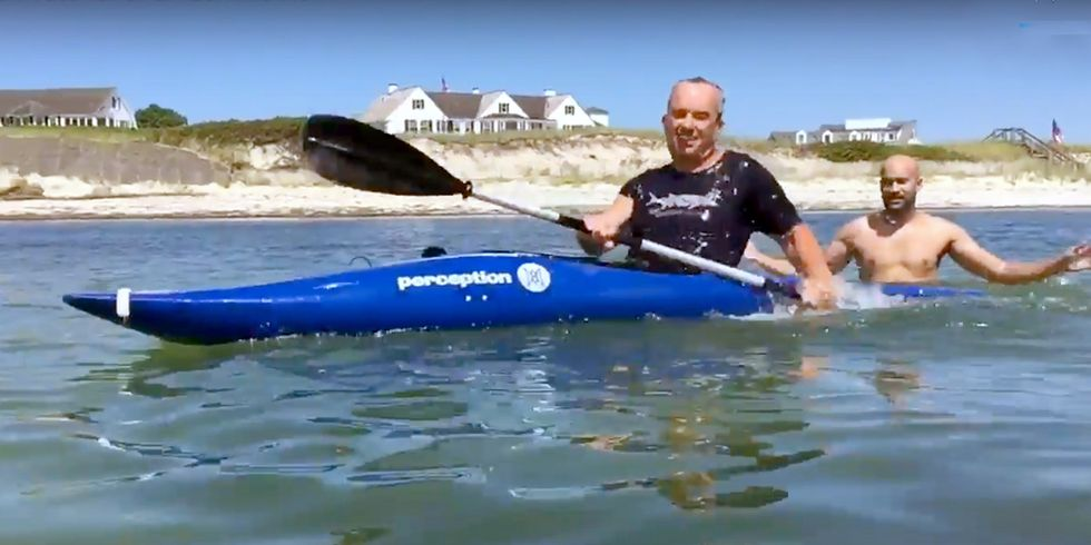 Robert F. Kennedy, Jr. Shows You How to Eskimo Roll a Kayak