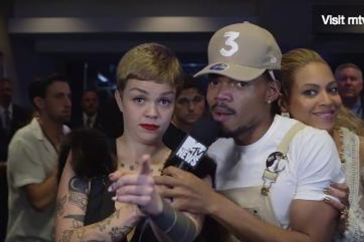 Watch Beyoncé Crash Chance the Rapper's Interview With Meredith Graves