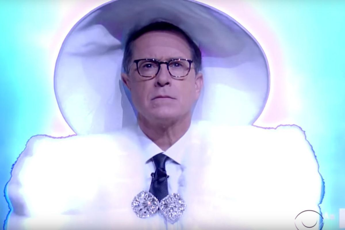 Stephen Colbert Does A Strange Parody Of Beyoncé's VMAs Performance
