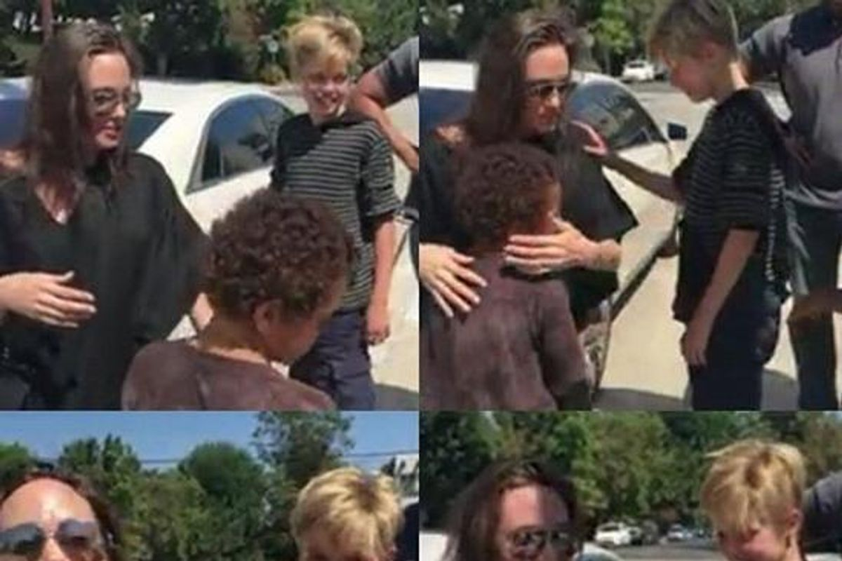 Watch Angelina Jolie and Shiloh Buy an Eight-Foot Teddy Bear From Kids on the Side of the Road