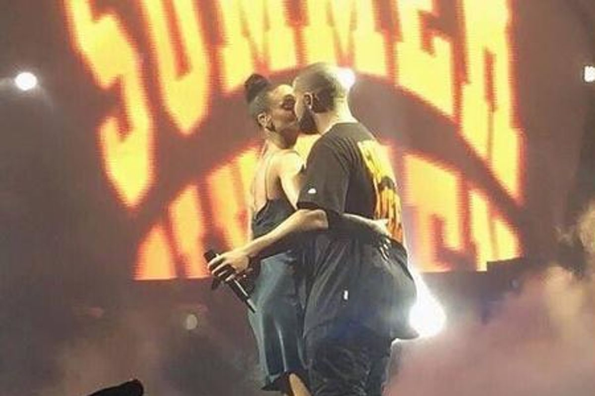 UPDATE: After Kissing Drake On Stage In Miami, Rihanna Allegedly Got A Tattoo To Commemorate Him