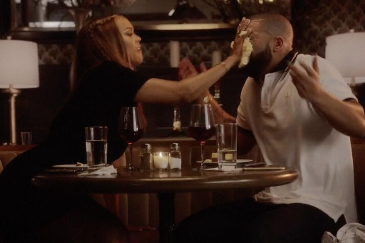 """Drake And Tyra Banks Fight At Cheesecake In The Music Video For """"Child's Play"""""""