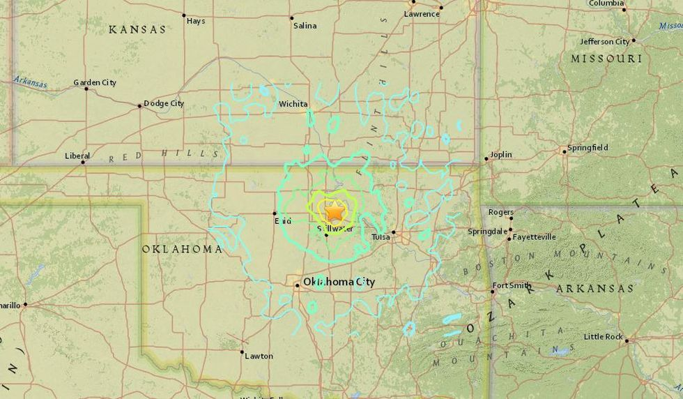 Oklahoma Earthquake Officially Largest in State's History