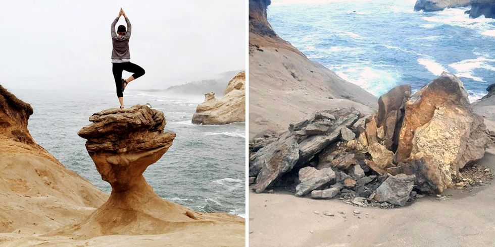 Vandals Destroy Beloved Oregon Rock Formation