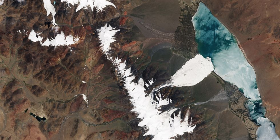 NASA Satellite Images Show Massive Ice Avalanche in Tibet