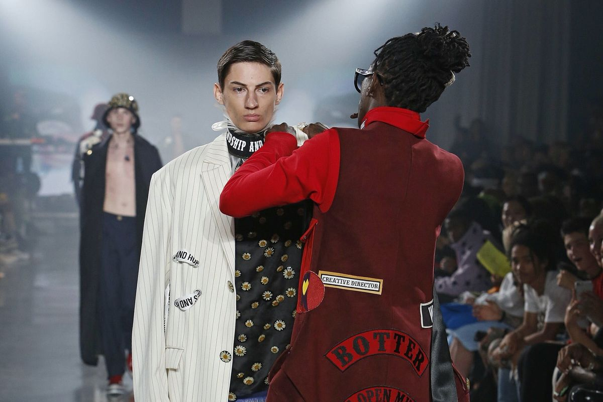 Young Thug Fixed A Model's Clothes Mid-Walk At The VFILES Fashion Show Last Night