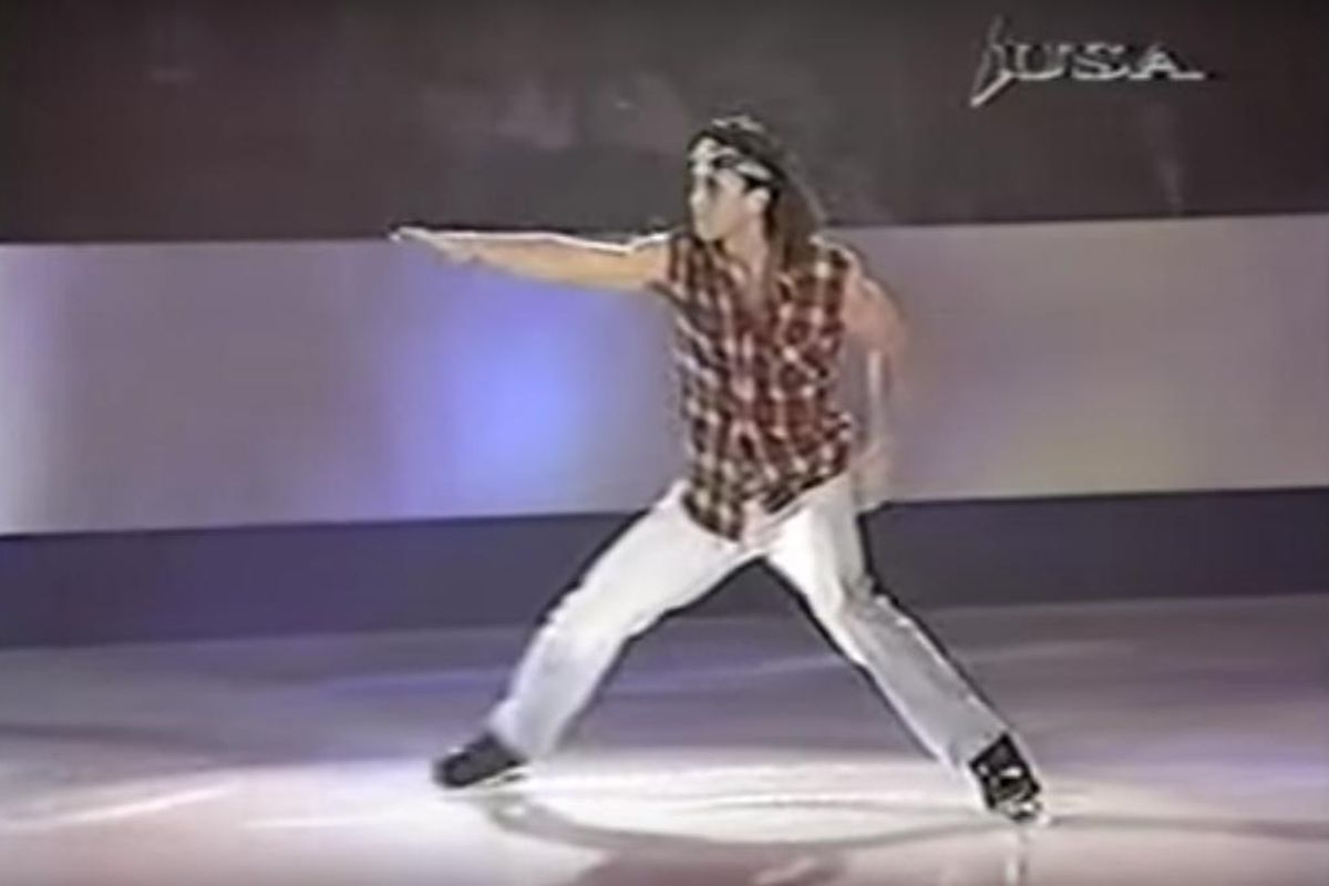 "Celebrate The 25th Anniversary Of ""Smells Like Teen Spirit"" With The Grunge Figure Skater"