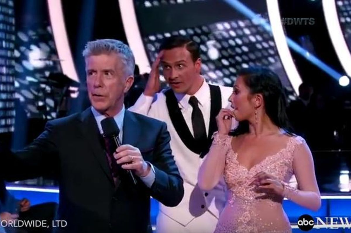 """Ryan Lochte Got Ambushed By Protesters During """"Dancing With the Stars"""""""