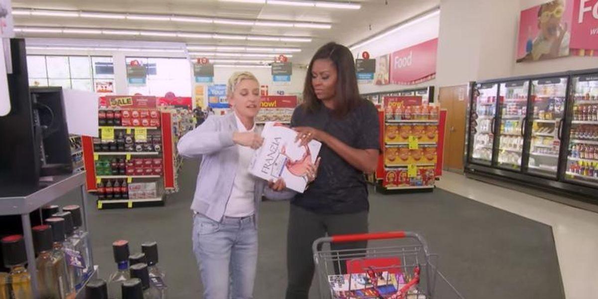 Watch Ellen DeGeneres and First Lady Michelle Obama Run Amuck In CVS