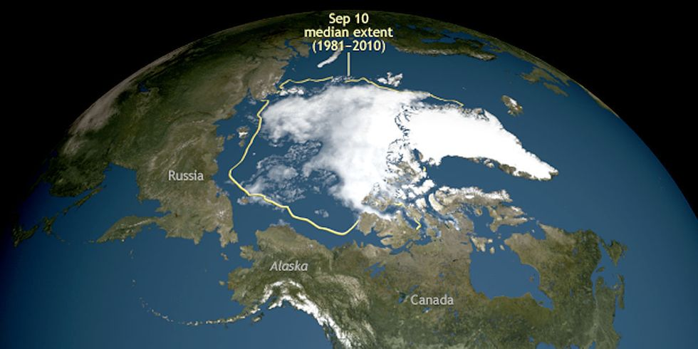 Arctic Ice Shrinks to Summer Low