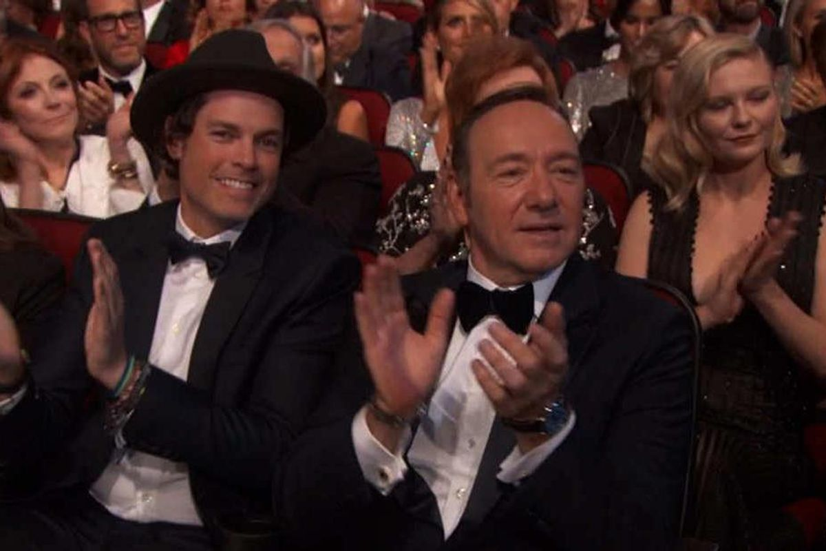 A Primer On Kevin Spacey's Hot Fedora Wearing Evening Companion At The Emmys Last Night