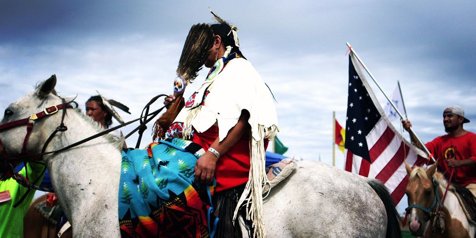 Peace Pipes, Not Oil Pipes: Indians Battle Modern-Day Cowboys to Save Sacred Lands