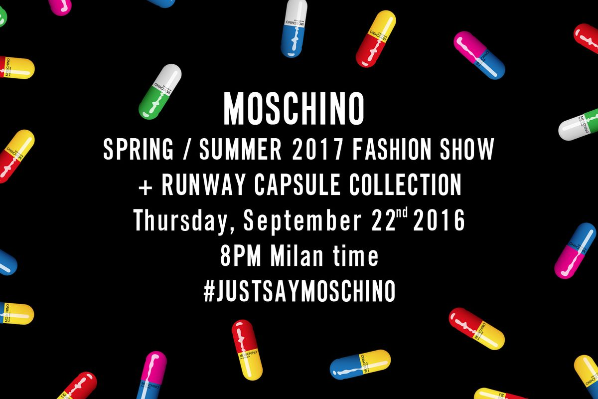 Stream the Moschino SS17 Show in Milan LIVE