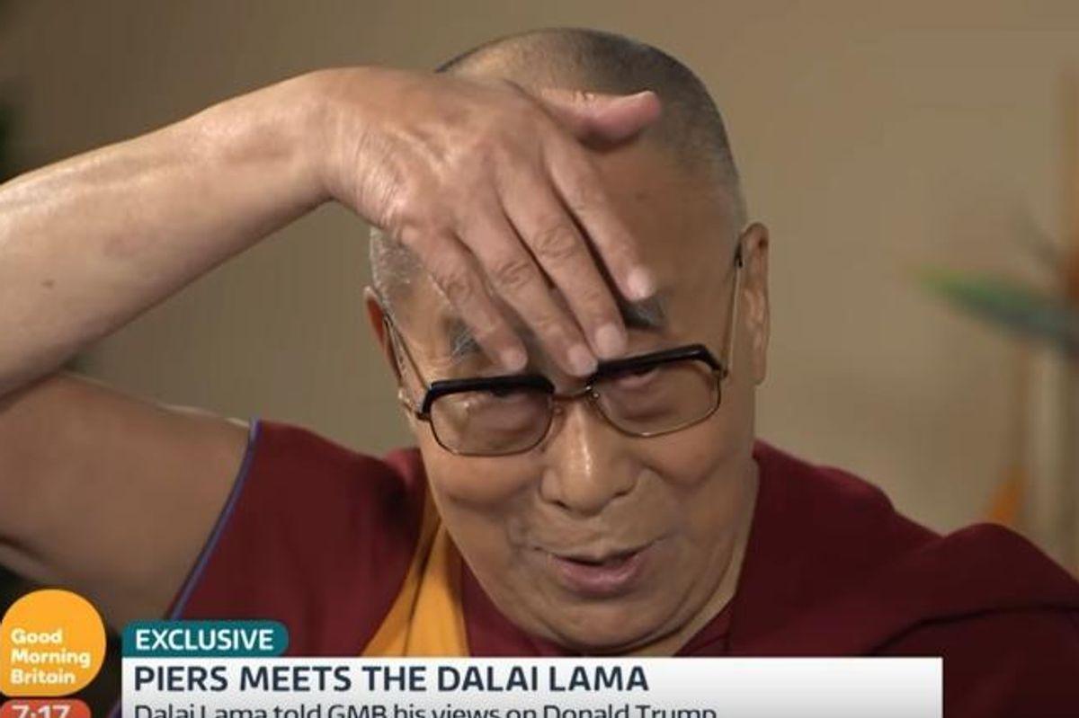 Watch The Dalai Lama Do A Glorious Impression Of Donald Trump