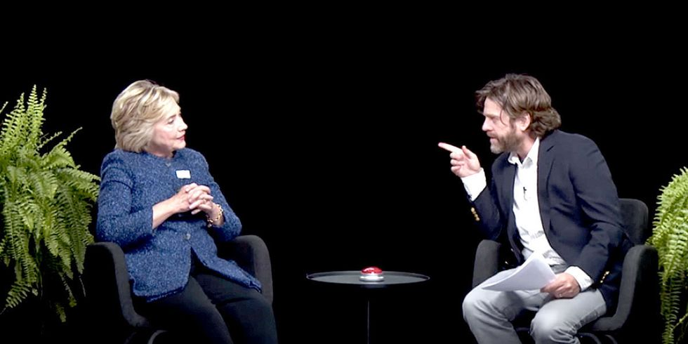 Hillary Clinton on Between Two Ferns: 'I Am Not Down With TPP'