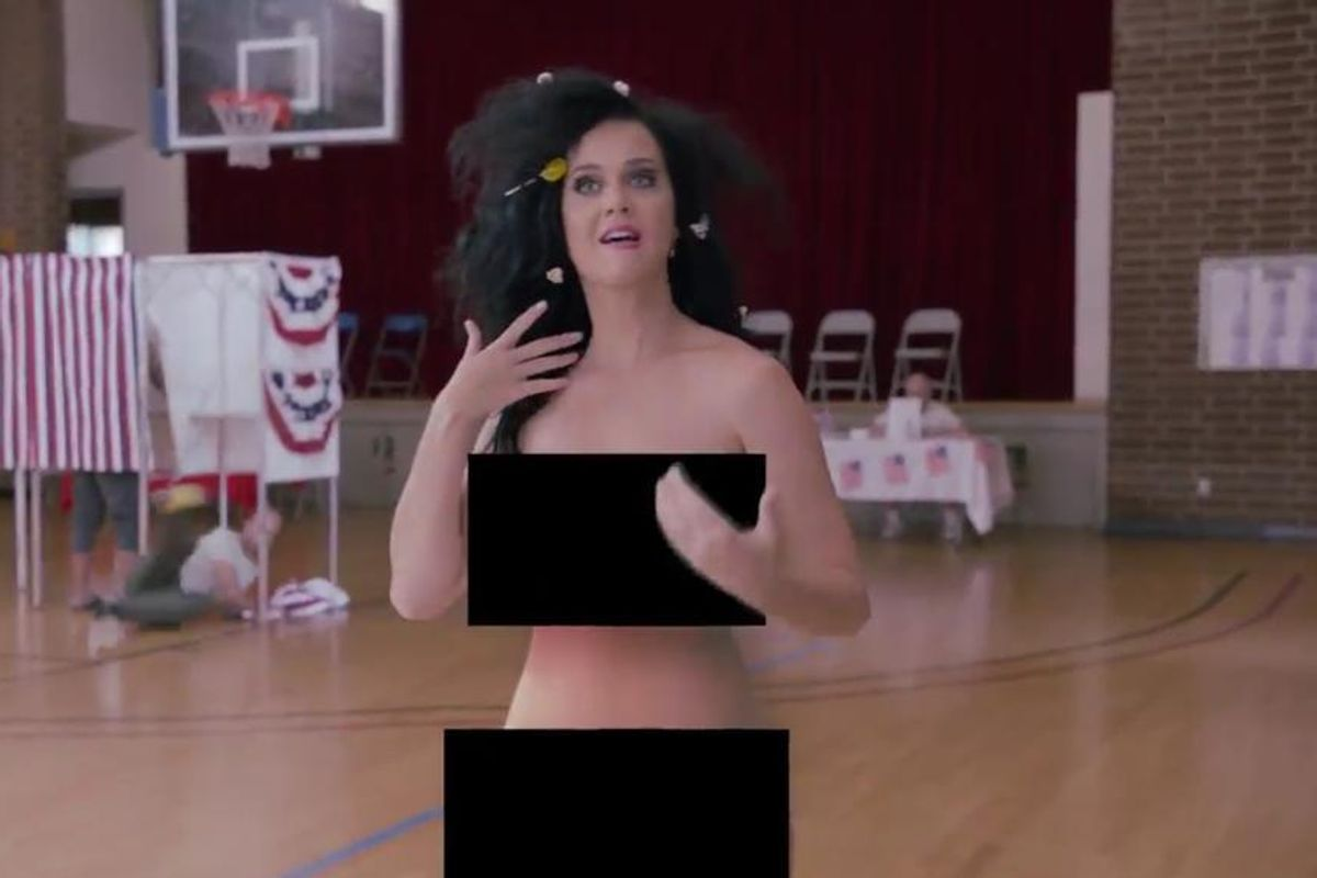 Watch Katy Perry Vote Naked