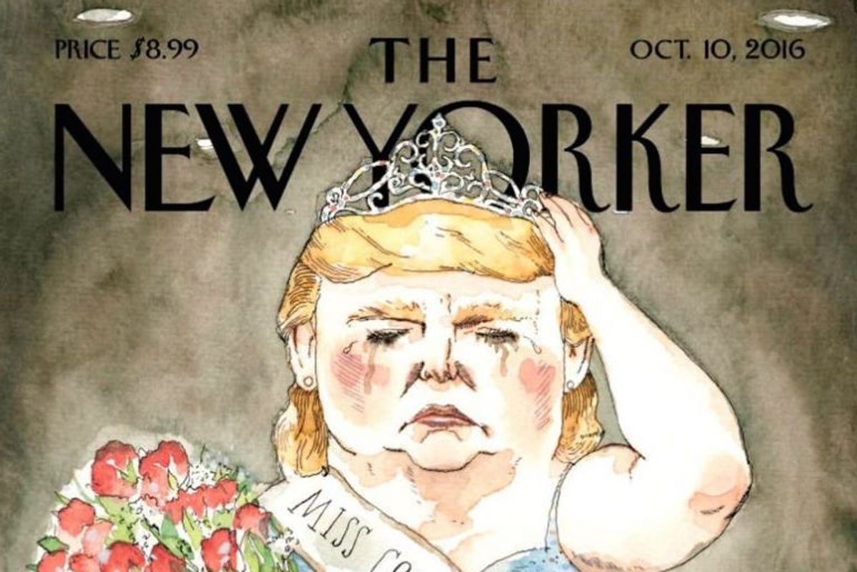 The New Yorker Imagined Donald Trump As A Beauty Pageant Queen, And It's Fabulous