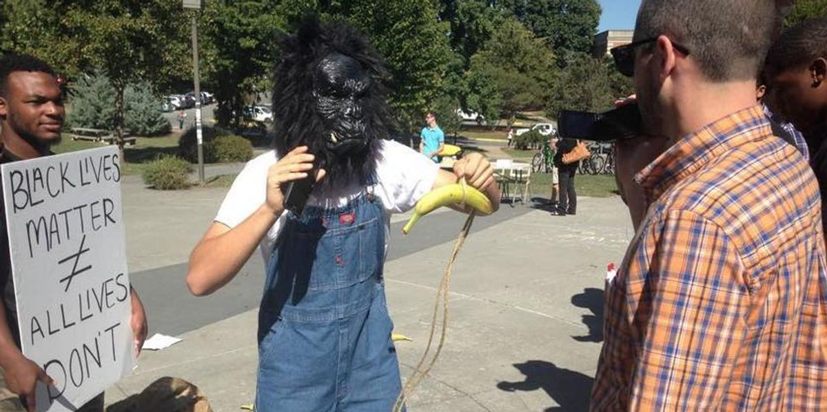 Student Wearing A Gorilla Mask At Black Live Matter Event Charged With Civil Rights Intimidation