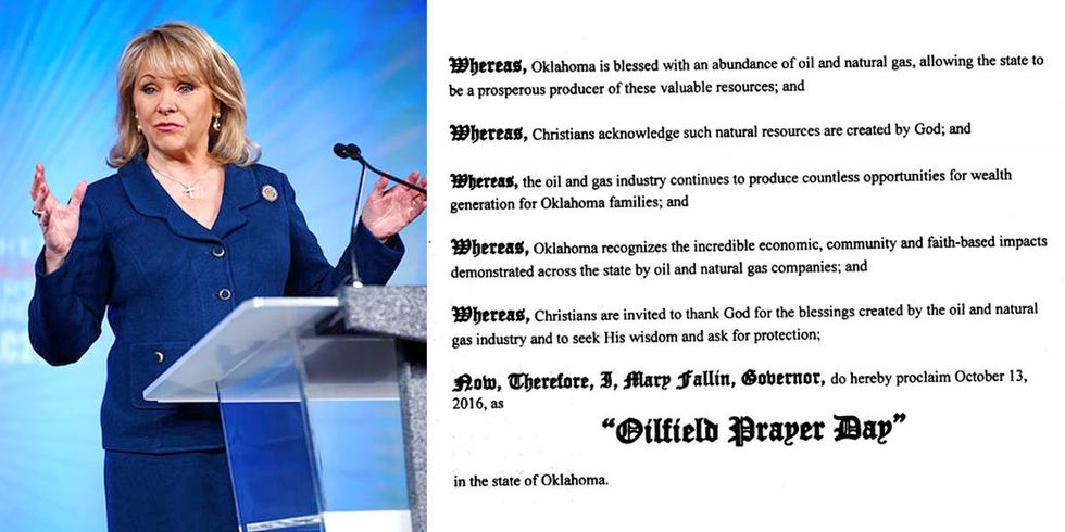 Oklahoma Governor Wants You to Pray for the Oil Industry (No Joke)